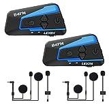 LEXIN LX-B4FM Interfono Moto, Moto auricolare Bluetooth con FM,...