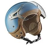 SOXON SP-325-MONO Crystal Blue · Vespa Retro Urban Moto Urbano Mofa Casco...