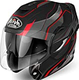 CASCO HELMET MODULARE MENTONIERA RIBALTABILE AIROH REV REVOLUTION MATT RED...