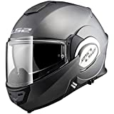 LS2 Casco Moto Compatibile VALIANT FF399 SOLID Matt Titanium - M