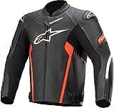 Alpinestars Faster V2 Giacca moto in pelle Nero/Rosso 50