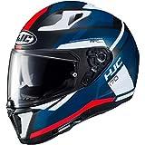 Casco moto HJC i70 ELIM MC1SF, Nero/Blu/Bianco/Rosso, M