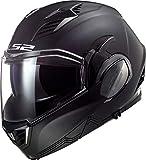 LS2, casco moto modulare VALIANT II nero opaco, M