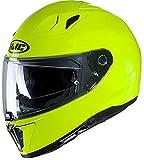 Casco moto HJC i70 Verde FLUO / FLUO GREEN, Giallo, XL