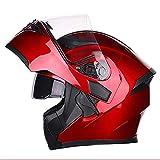 LALEO Regolabile Casco Integrale da Moto, Open Face Casco da Moto, Adatto...