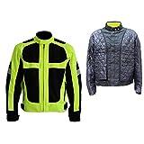 LKN - Giacca invernale calda antivento per motocicletta, con strato termico...