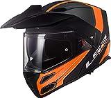 LS2 CASCO MOTO FF324 METRO EVO RAPID NERO ARANCIO P/J, NER/Arancione, M