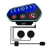 Cuffie Bluetooth per Casco Moto- Caschi Auricolare Vivavoce Cuffie per...