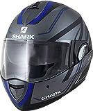 Shark EVOLINE 3 HYRIUM MAT AKB, casco da moto, colore: antracite/blu, M
