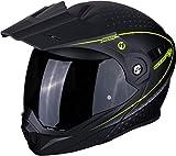 Casco moto Scorpion ADX-1 HORIZON Matt Black-Neon yellow, Nero/Fluo, M