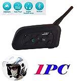 V6 Cuffie Interfono Bluetooth Impermeabile Intercom Stereo Microfono per...