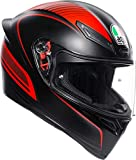 AGV CASCO K1 MULTI WARMUP MATT BLACK/RED ML