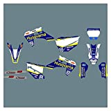 Wjyfexble Kit di adesivi per decalcomanie grafiche per moto 3M per...