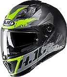 Casco moto HJC i70 RIAS MC4HSF, Nero/Grigio/Giallo, M