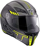 AGV Casco Moto Compact St E2205 Multi PLK, Seattle Matt Black/Silver/Yellow...