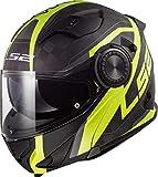 Casco moto LS2 FF313 VORTEX FRAME CARBON HI VIS Giallo, Nero/Giallo, M