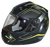 Protectwear Casco Integrale da Moto, Nero/Giallo, L (59-60 cm)