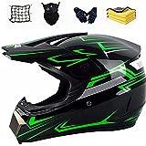 Casco da motocross casco da moto per bambini casco integrale da bici per...