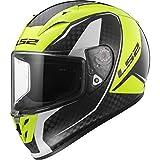 LS2 Casco Moto Ff323 Arrow C Evo Fury, Carbon Hi-Vis Yellow, XXL