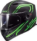 Casco Moto LS2 FF324 METRO EVO FIREFLY MATT GLOW Verde P/J, Nero/Verde, M