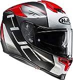 HJC Helmets Casco moto HJC RPHA 70 VIAS MC1SF, Nero/Bianco/Rosso, S