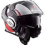 LS2 VALIANT AVANT - Casco da moto, taglia M, colore: Bianco/Nero/Rosso