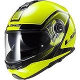 LS2FF325- Casco modulare da moto Strobe Civik Hi-Vis, Giallo XS giallo