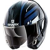 Shark, casco da moto Hark Evoline 3 Corvus Mat, nero/bianco, taglia S