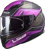 LS2 103205674XXS Casco Moto Full Face FF320 Stream Evo, Unisex, Porpora,...