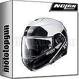 NOLAN CASCO MOTO MODULARE N100-5 PLUS DISTINCTIVE METAL BIANCO 022 TG. XL