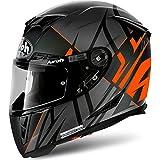 Airoh,casco integrale con striature, con adesivo dorato ACU, GP500, Matt...