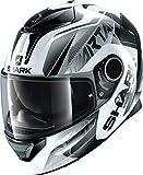 Shark SPARTAN 1.2 KARKEN WKK, casco da moto, colore: bianco/nero, XL