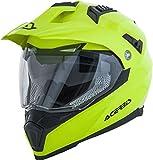 Acerbis Casco Moto Integrale Flip Fs-606 Enduro S, Helmet Uomo, Yellow, XL