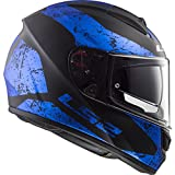 LS2 Casco Moto Compatibile VECTOR FF397 SIGN Matt Black Blue - L