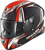 Shark SKWAL 2 SYKES MAT KWO Casco Moto Nero Arancio M