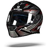 Shark 2663_26765, Caschi Moto SKWAL 2 DRAGHAL KAR-XS Uomo, Nero/Rosso