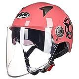 LALEO Dimensione Universale Open Face Casco da Moto, Regolabile Removibile...