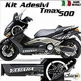 SET COMPLETO ADESIVI CARENA BIANCO FITS COMPATIBILE CON YAMAHA T-MAX 500...