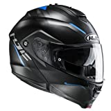 HJC 2377_25370, Casco da Moto IS Max II Dova MC2SF Uomo, Nero/Blu, XS