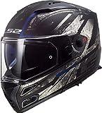 Casco moto LS2 FF324 METRO EVO BUZZ MATT Nero TITANIUM Blu P/J,...