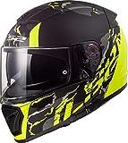 Casco moto LS2 FF390 BREAKER FELINE MATT HI VIS Giallo, Nero/Giallo, S