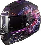 Casco moto LS2 FF397 VECTOR FT2 COSMOS MATT Nero Pink, Nero/Pink, S