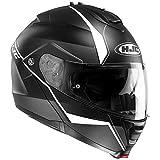 HJC IS-MAX 2Mina Cuffie modulabili Casco di moto nero bianco M...
