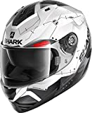 Casco moto Shark RIDILL 1.2 MECCA WKR, Nero/Bianco/Rosso, M