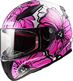 Casco moto LS2 RAPID POPPIES Pink, Bianco/Pink, S