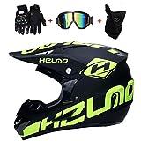 SK-LBBm, Casco da moto cross, guanti e occhiali di protezione D.O.T,...