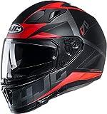 Casco moto HJC i70 ELUMA MC1SF, Nero/Rosso, S