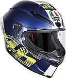 AGV Casco Moto Corsa R E2205 Top PLK, V46 Matt Blue, MS