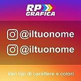 RP Grafica Adesivi Stile Instagram Personalizzati per Auto Moto Stickers