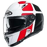 Casco moto HJC i70 PRIKA MC1, Bianco/Nero/Rosso, L